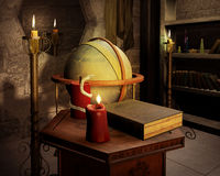 Wizard's Magic Book Royalty Free Stock Photo