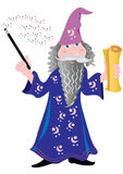 Wizard with a scroll Royalty Free Stock Photo