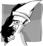 Wizard sketch drawing illustration Royalty Free Stock Image