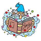 Wizard with spell book Royalty Free Stock Images