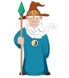 Wizard with stick Stock Images