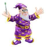 Wizard with Wand Stock Images