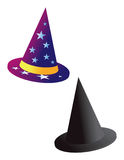 Wizard and witch hat Stock Image