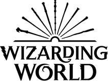 Wizarding-Weltneues Logo lizenzfreie abbildung