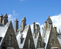 Wizarding World. Image of interesting rooftops in the Wizarding World of Harry Patter at Universal Studios, Orlando Royalty Free Stock Image