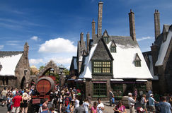 Wizarding World of Harry Potter. Hogsmeade at the Wizarding World of Harry Potter, Florida, 15th October 2010.  It took 5 years and cost approximately $265 Stock Image