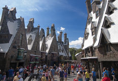 Wizarding World of Harry Potter. Hogsmeade at the Wizarding World of Harry Potter, Florida, 15th October 2010.  It took 5 years and cost approximately $265 Stock Photography