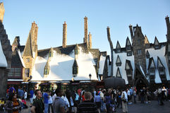 Wizarding World of Harry Potter. Hogsmeade at the Wizarding World of Harry Potter, Universal Orlando, Florida, USA Stock Photo