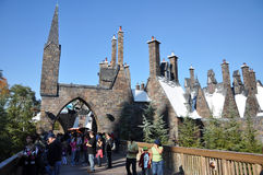 Wizarding World of Harry Potter. Entrance of Hogsmeade at the Wizarding World of Harry Potter, Universal Orlando, Florida, USA Royalty Free Stock Photo