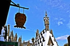 Wizarding World of Harry Potter in Universal Studios Japan. Osaka, Japan - January 11, 2016: The Wizarding World of Harry Potter in Universal Studios Japan Royalty Free Stock Photography