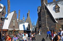 Wizardingswereld van Harry Potter, Orlando, Florida, de V.S. stock foto