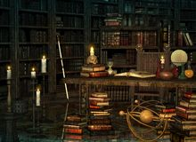 Wizards Place, 3d CG royalty free stock image