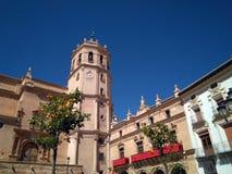 Wizerunek Świątobliwy Patrick kościół w Lorca mieście podczas Świątobliwego patrickdnia w Hiszpania kwadracie obrazy royalty free