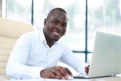 Wizerunek amerykanina afrykańskiego pochodzenia biznesmen Fotografia Stock