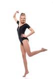 Wizerunek atrakcyjna sprawności fizycznej dziewczyna pozuje w leotard zdjęcie stock