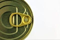 Wizerunek blaszana puszka z kopii przestrzenią zdjęcia stock