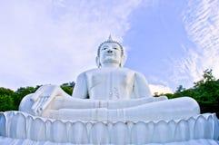 Wizerunek Buddha jest biały Obrazy Stock