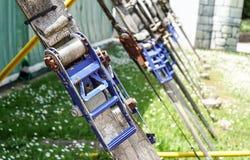 Wizerunek carabiner haczyk z wspinaczkową arkaną obraz stock