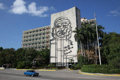 Wizerunek Che Guevara w Hawańskim, Kuba zdjęcia stock