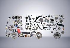 Wizerunek ciężarówka gromadzić od nowych dodatkowych części Fotografia Royalty Free