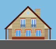 Wizerunek dom miejski z kominem Zdjęcia Stock