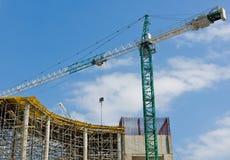 Wizerunek domowa budowa na nieba tła zakończeniu up Zdjęcia Stock
