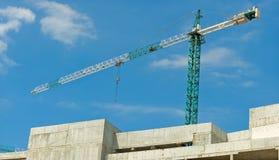 Wizerunek domowa budowa na nieba tła zakończeniu up Zdjęcie Stock