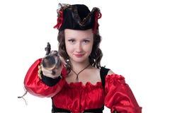 Wizerunek dosyć piegowaty pirat pozuje przy kamerą obrazy stock