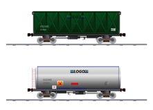 Wizerunek dwa ładunków fracht fotografia stock