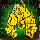 Wizerunek egipetskih popiersia pharaohs Obraz Stock