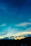 wizerunek góra i zmierzchu niebo Fotografia Stock