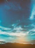 wizerunek góra i zmierzchu niebo Fotografia Royalty Free