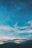 wizerunek góra i zmierzchu niebo Zdjęcie Royalty Free