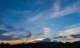 wizerunek góra i zmierzchu niebo Obraz Royalty Free