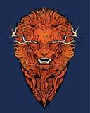 Wizerunek gniewny lew zdjęcia stock