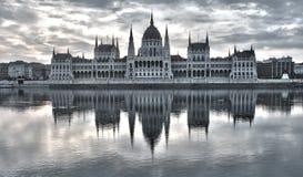 Wizerunek hungarian parlament w Budapest podczas wschodu słońca Obrazy Royalty Free