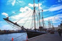 Wizerunek jacht cumował w schronieniu w Kopenhaga Obrazy Royalty Free