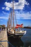 Wizerunek jacht cumował w schronieniu w Kopenhaga Obrazy Stock