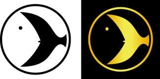 Wizerunek kierowniczy i ogon rybi minimalistyczny logo Obraz Royalty Free