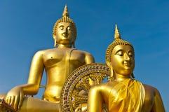 Wizerunek koloru złoto Buddha Zdjęcia Stock