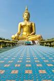 Wizerunek koloru złoto Buddha Obrazy Stock