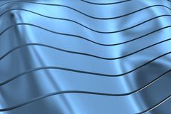 WIZERUNEK krzywy I linie NAD błękitem I metalu kolorem ilustracji