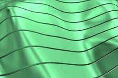 WIZERUNEK krzywy I linie NAD zieleni srebrem I PRZEJRZYSTYM kolorem ilustracji