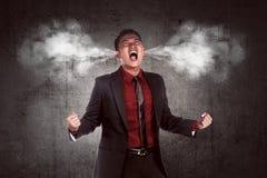 Wizerunek młody azjatykci biznesmen w złości Obrazy Stock