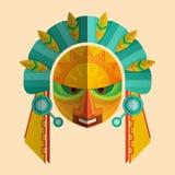 Wizerunek maska Mayans z etnicznym ornamentem ilustracji