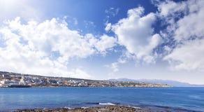 Miasteczko przybrzeżne na Crete w Grecja fotografia stock