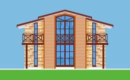 Wizerunek nowożytny dom miejski z dużymi okno Zdjęcie Royalty Free