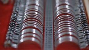 Wizerunek optometry set Obiektyw ustawiający dla wyboru punkty zbiory