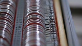 Wizerunek optometry set Obiektyw ustawiający dla wyboru punkty zdjęcie wideo