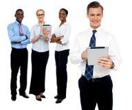 Wizerunek partner biznesowy na biały tle Fotografia Royalty Free